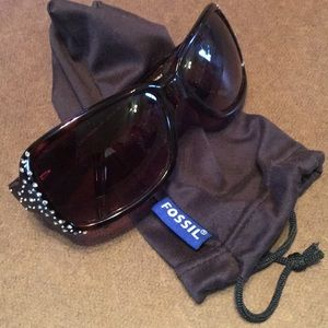 Fossil Sunglasses with gorgeous Swarovski crystals